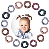 Whaline 200 Pieces Baby Hair Ties, Multicolor Elastic Ties, 5 Mixed Color Elastic Hair Bands Korean Fashion Color Hair Accessories No Crease for Baby Girls Infants Ponytail Holders