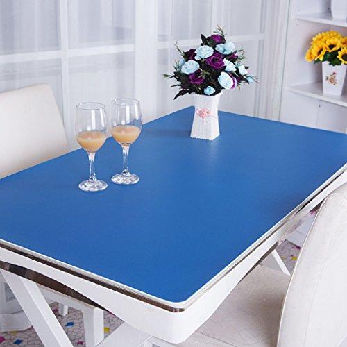 Nappes Toile de table en PVC, tapis de bureau Tapis de bureau Tapis de table pour ordinateur Étui professionnel Étui de bureau Station opérateur 3.5mm Nappe ( Couleur : Bleu , taille : 70*130cm )