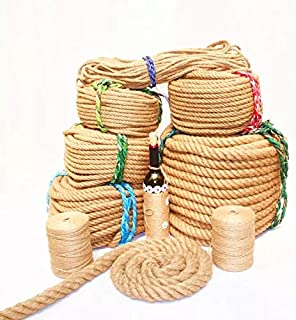 Corde de chanvre 50 M Naturel Corde De Jute Corde De Jardin Chaîne Art Artisanat Twine DIY wrap Cadeau ruban ficelle corde...