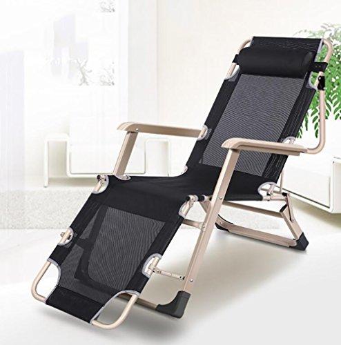 ZCJB Chaise Longue Pliante Siesta Lit Bureau Multifonctionnel Lit Lounger Ménage Frais Chaises Escapade D'été Siesta Chaise