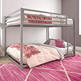 DHP Miles Metal Bunk Bed, Silver, Full over Full