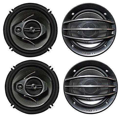 "4) PIONEER TS-A1674R 6.5"" 350W 3-Way 600W Car Speakers"