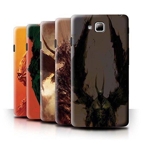 Oficial Chris Cold Carcasa/Funda/Case dura para el LG Optimus L9 II/D605 / serie: Criaturas Salvajes - 6pcs Paquete