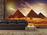 Fotomural Vinilo para Pared Pirámides Egipto | Fotomural para Paredes | Mural | Vinilo Decorativo | Varias Medidas 200 x 150 cm | Decoración comedores, Salones, Habitaciones.