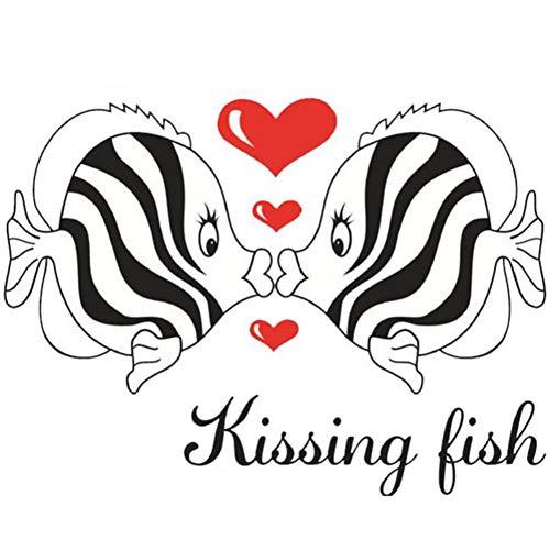 LFOZ Pegatinas de pared románticas con besos de animales para dormitorio, baño, decoración artística