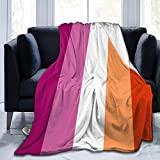 heigudan LGBT Gay Lesbian Flag Blanket Soft and Comfortable Super Soft Flannel Blanket Suitable for Bed Or Sofa Four Seasons Air Conditioning Blankets 40'X50'