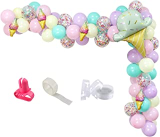 UTOPP Ice Cream Party Balloons Arch Garland, Ice Cream Foil Balloons for Summer Birthday Party,Ice Cream Party Supplies
