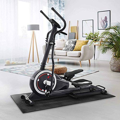 Video and Multiplayer Gaming Events with APP, Sports Training Program 24 kg flywheel Cross Trainer Exercise Bike,Black