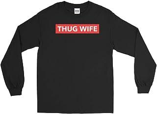 f147c392 Thug Wife Red Box Logo Long Sleeve Shirt Mens Hip Hop Rap Music Savage Life  Style