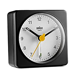 Braun Classic Travel Analogue Alarm Clock - BC02BW
