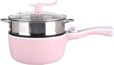 Ladieshow multifonctionnel Double couche chauffage électrique à la vapeur bouillante friture cuisinière Pot EU Plug 220 V