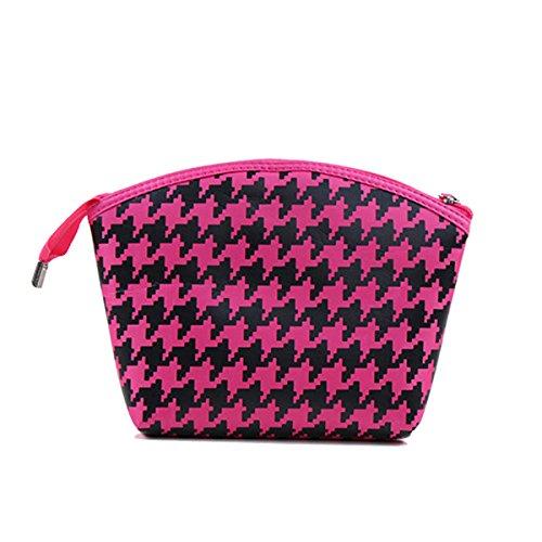 Fletion Houndstooth da viaggio bagagli lavaggio sacchetto cosmetico Borsa Make Up Tool Bag Cosmetici