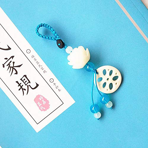 sddfor Chen Qing Ling Lotus Dock Pendant, Mo Dao Zu Shi Car Handbag Lotus Tassel Key Ring