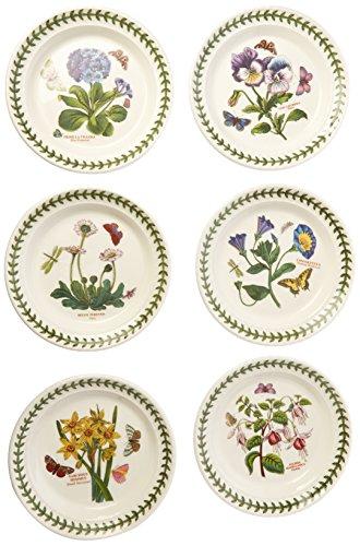 Portmeirion Botanic Garden Bread and Butter Plate, Set of 6 Assorted Motifs