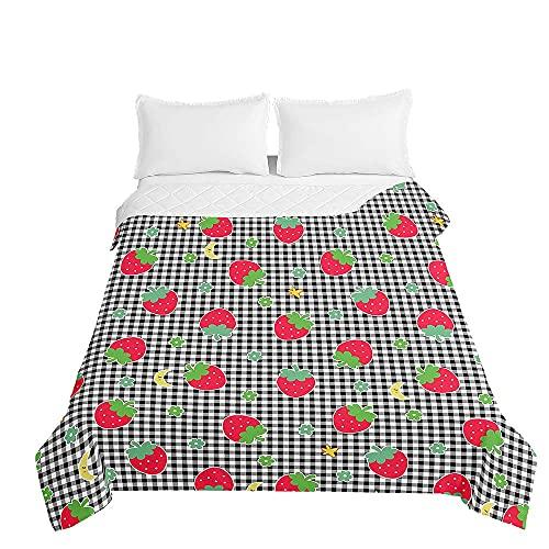 Colcha de Verano Cubrecama Colcha Bouti, Chickwin 3D Estampada Edredón Manta de Dormitorio Suave Ligero Multiuso Colchas para Cama Infantil Individual Matrimonio (Plaid,220x240cm)