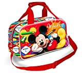 Karactermania Mickey Mouse Crayons-Sports Bag Borsa sportiva per bambini, 38 cm, Rosso (Red)