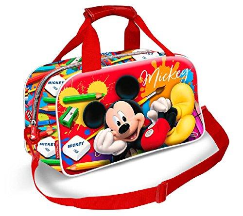 Karactermania Mickey Mouse Crayons Bolsa de Deporte Infantil, 38 cm, Rojo