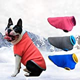Handfly Otoño Invierno Perro Chaleco de Lana Jumper Suéter Abrigo Ropa Chaqueta para Perros pequeños Cachorro Gato Invierno Abrigo para Perro Ropa para Perros Gris Rosa Azul