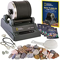professional National Geographic Rock Hobby Tumbler Set-Includes Coarse Jewels, 4 Abrasive Grains, Jewelery …