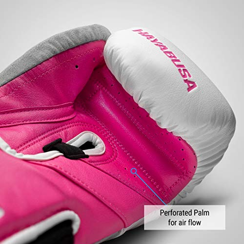 Hayabusa T3 Boxing Gloves for Men and Women - White/Pink, 14oz