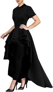 ab731d0eadf Women Girls Fashion Tops Goodlock Lady Female Short Sleeve High Low Peplum  Bodycon Casual Party Club