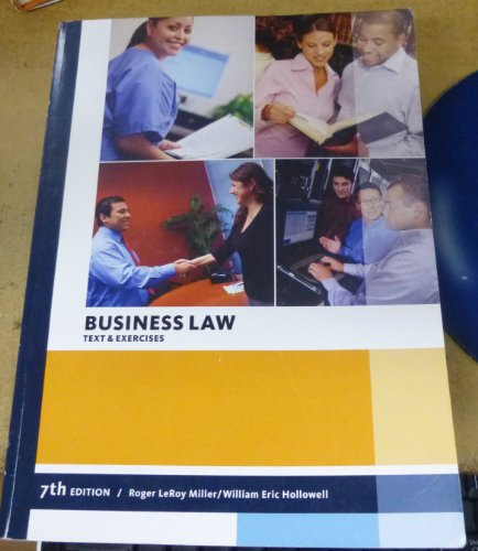 Business Law Text & Exercises Cengage Learning Custom Edition (Business)