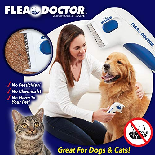 BulbHead Original As Seen On TV Flea Doctor Electronic Flea Comb Perfect for Dogs amp Cats Kills amp Stuns Fleas 1 Pack