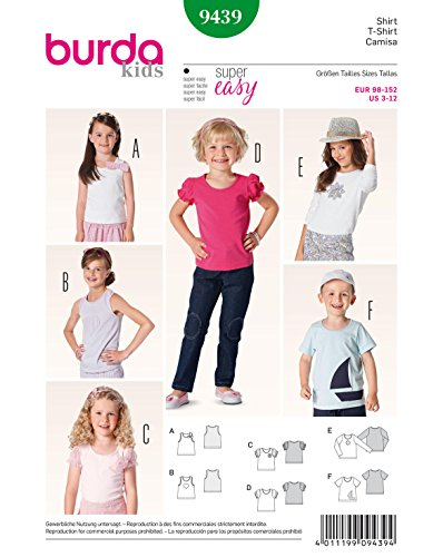 Burda Schnittmuster T-Shirt ? Top 9439