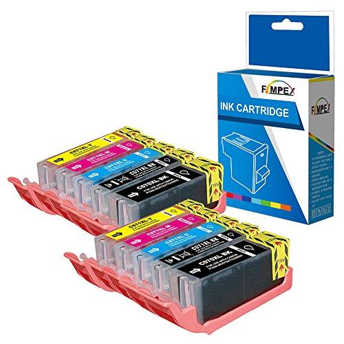 Fimpex Kompatibel Tinte Patrone Ersatz für Canon Pixma MG5700 MG5750 MG5751 MG5752 MG5753 MG6800 MG6850 MG6851 MG6852 MG6853 MG7750 MG7751 MG7752 MG7753 TS5050 TS5051 (BK/PBK/C/M/Y, 10-Pack)