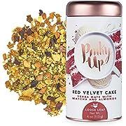 Pinky Up Red Velvet Cake Loose Leaf Tea | Yerba Mate Herbal Tea, 80-85 mg Caffeine Per Serving, Naturally Calorie & Gluten Free | 4 Ounce Tin, 25 Servings