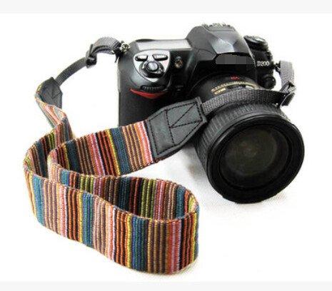 Correa de hombro universal Kwow antideslizante para cámara con arnés, cuello bohemio para DSLR SLR Nikon Canon Sony Pentax Fujifilm Fujifilm Colorful
