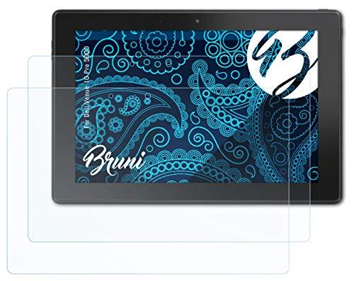 Bruni Schutzfolie kompatibel mit Dell Venue 10 Pro 5000 Folie, glasklare Bildschirmschutzfolie (2X)