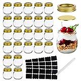 Mason Jars 10 OZ, Glass Jar ,Canning Jars Jelly Jars With Regular Lids, Ideal for Overnight...