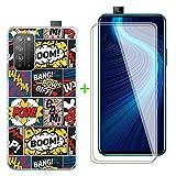 ZXLZKQ Fundas + 2 Piezas Protector Cristal Templado para Huawei Honor X10 Pro (6.63 Pulgadas), Transparente Case Silicona Suave Caso TPU Carcasa,Vidrio Película Protectora - Sorpresa Símbolo