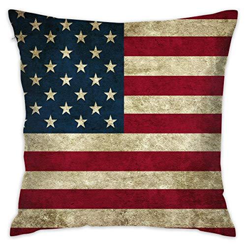 surce Vintage Amerikaanse Vlag Zachte Comfortabele Houd Kussen Cover Kussens Gooi Kussen Thuis Decoratieve Kussensloop 18