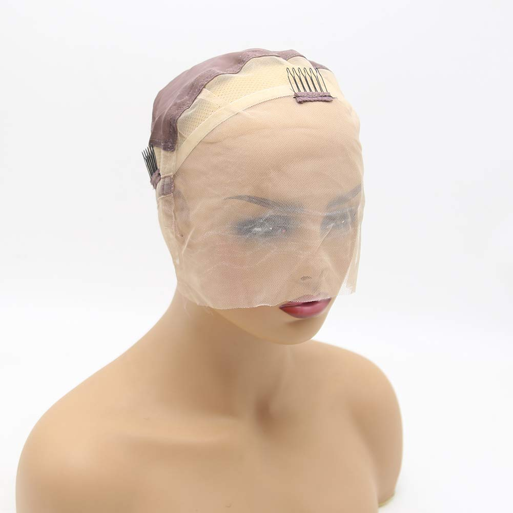 BTWTRY Transparent Quality inspection Full Lace Wig Making Caps for Adjust wholesale with