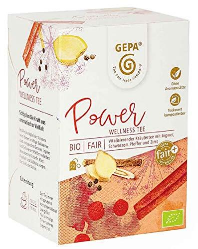 Gepa Bio Power Tee - 100 Teebeutel - 5 Pack ( 20 x 1,5g pro Pack)