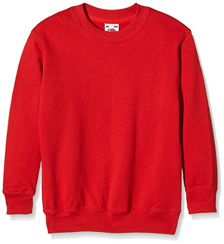 Fruit of the Loom, Sudadera Infantil, Rojo (Rot - Rot), 3-4 Años