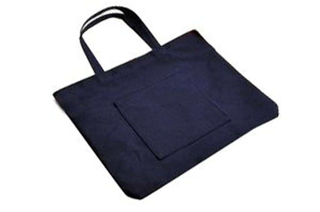 眠り順番スロープ紺色布製 レッスンバッグ【大?お道具箱サイズ】 お子様用