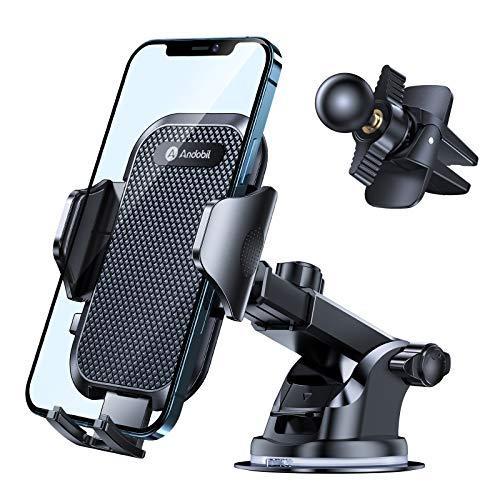 andobil Handyhalterung Auto Saugnapf & Lüftung [Upgrade 4,0] Extrem Stabile Handyhalter fürs Auto 4 in 1 Kfz Handyhalterung Universal Halterung Auto für iPhone 12/12 Pro/12 Pro Max/11/Samsung Huawei