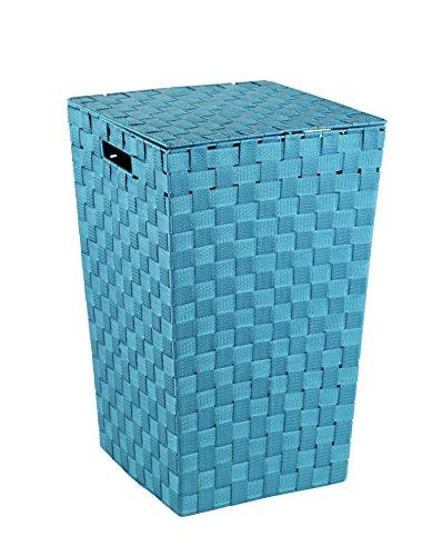 Wenko 22279100 Wäschetruhe Adria Square Fassungsvermögen 48 L, Polypropylen, petrol, Blau, 33 x 33 x 52,2 cm
