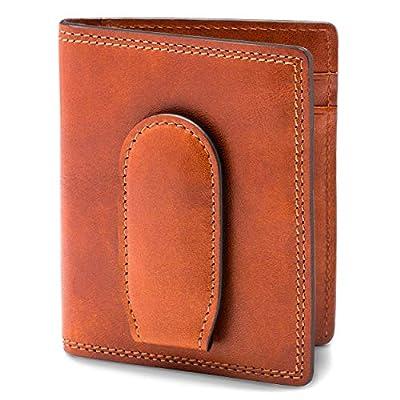 Bosca | Men's Deluxe Front Pocket Bifold Wallet w/Money Clip in Italian Leather