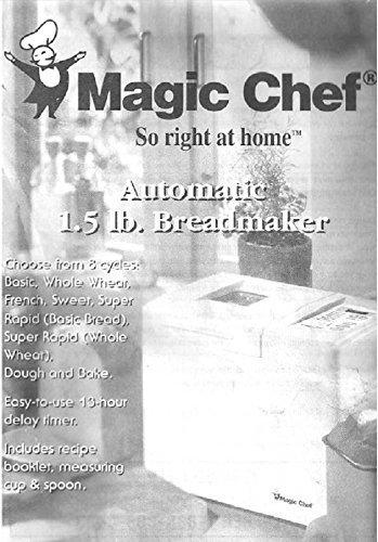 Magic Chef Bread Machine Maker Instruction Manual & Recipes (Model: CBM1000) ... [Plastic Comb]