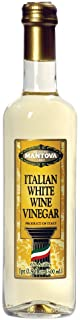 Mantova Italian White Wine Vinegar 17 oz (Pack of 2). Made with traditional methods and aged in fine wood casks, it retains the flavor of the wine, accented by the crisp character of the vinegar.