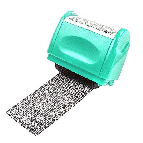 Rollstempel Datenschutz Stempel wie eine Aktenvernichter Schredder Camouflage aus kunststoff Identität Diebstahl Stempel