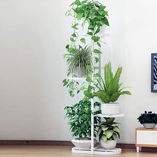 LuoKe Estante de la Planta Soporte de Maceta de Hierro Forjado Multicapa para decoración del hogar, 96 x 22 x 45 cm