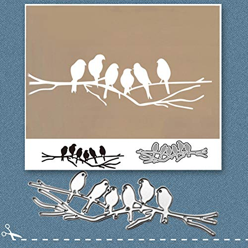 Moares Dies De Decoupe Scrapbooking,Scrapbooking Dies,Six Oiseaux m¨¦tal Coupe Die Bricolage Artisanat Scrapbook gaufrage Papier Carte Pochoir Moule