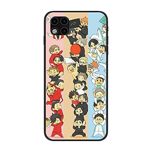 SweetST Carcasa negra ultra fina TPU suave silicona esmerilada compacta cubierta para XIAOMI Redmi 9C-Haikyuu-Hinata Anime Voleibol 2