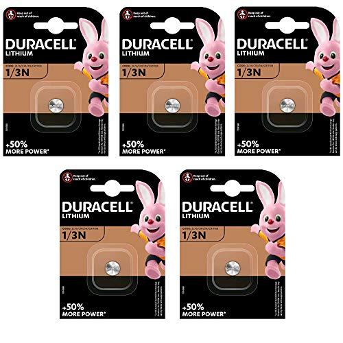 5er Set Duracell Lithium Batterie CR 1/3 N