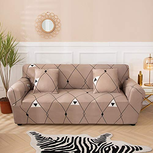 PPMP Fundas de sofá elásticas Antideslizantes para Sala de Estar Funda de sofá seccional de Esquina en Forma de L Funda de sillón A6 4 plazas